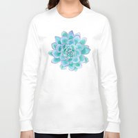 succulent Long Sleeve T-shirts featuring Succulent by Susan Windsor