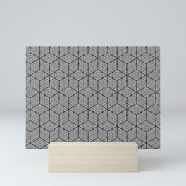 Grey Geometry Mini Art Print