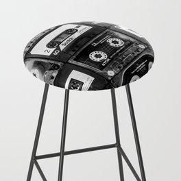 Something Nostalgic - black and white #decor #buyart #society6 Bar Stool
