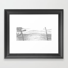 Beach Pointillism Framed Art Print