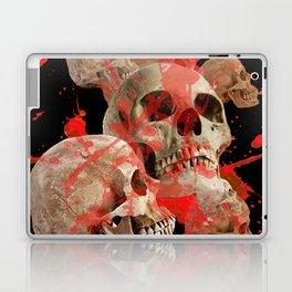MACABRE BLOOD & SKULLS BLACK  ART Laptop & iPad Skin