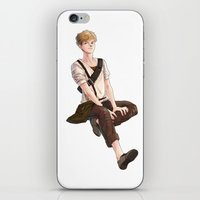maze runner iPhone & iPod Skins featuring Newt from Maze Runner Trilogy by RA army