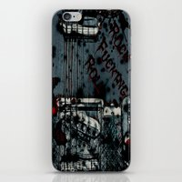 rock n roll iPhone & iPod Skins featuring Rock 'n Fucking Roll by Eric Rasmussen