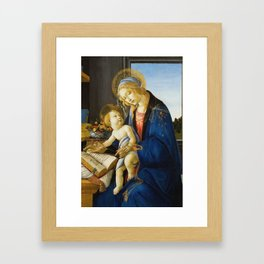 Botticelli  -  The Virgin And Child The Madonna Of The Book Framed Art Print