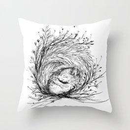 Squirrel's Nest Throw Pillow