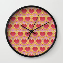 Peace and love pattern Wall Clock