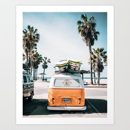 Surf Van Art Print
