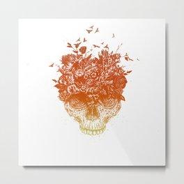 Summer skull Metal Print