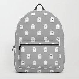 Cute Ghost Pattern - Grey Backpack