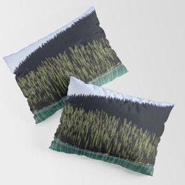 Green on Blue Pillow Sham