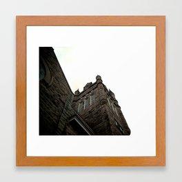 white series (B) Framed Art Print