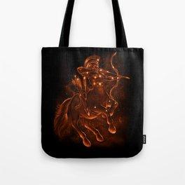 Gold Sagittarius Tote Bag