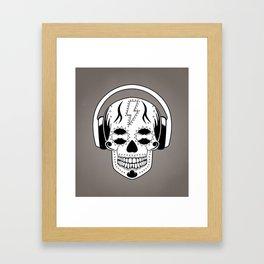 Groovy Skull Framed Art Print