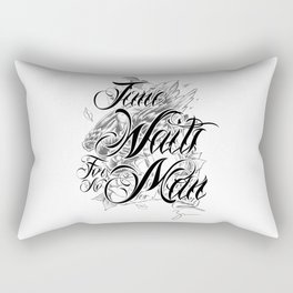 Chicano Lettering - Time Waits For No Man Rectangular Pillow