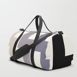 Grey Geometric Minimalist Watercolor Geometric MInimalist Mid Century Modern Lightning Bolt Pattern Duffle Bag
