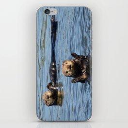 sea otter hello iPhone Skin