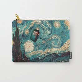 TARDIS PAINTING ON TOP Carry-All Pouch