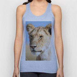 Lioness against blue sky Unisex Tank Top