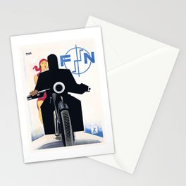 1925 FN Motorcycles Belgian Advertising Poster Stationery Cards