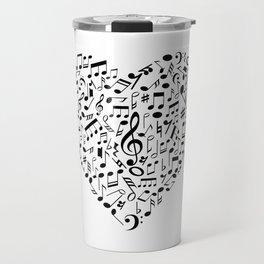I Love Music | Musical Symbols Musician Travel Mug
