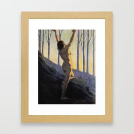 """We found our own, O my Soul, in the calm and cool of the daybreak"" (Margaret C. Cook, 1913) Framed Art Print"