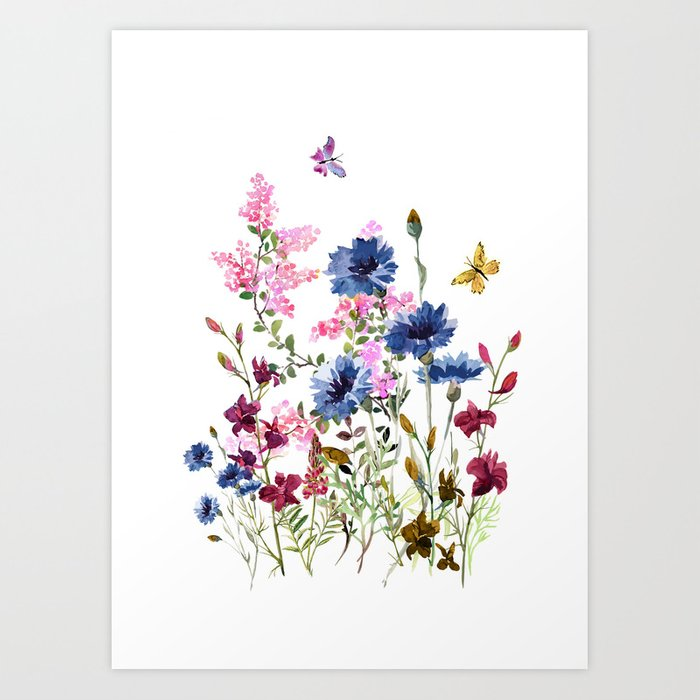 Wildflowers IV Art Print