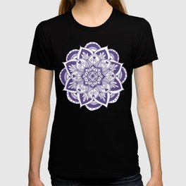 Ultraviolet Flower Mandala T-shirt