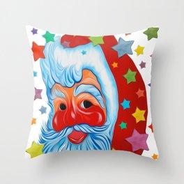 SANTA in town Throw Pillow