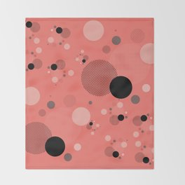 Coral Dots Throw Blanket
