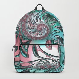 Coral and Teal Spiral Backpack
