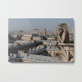 Gargoyle staring at Paris Metal Print