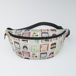 Virginia Woolf Book Covers Fanny Pack