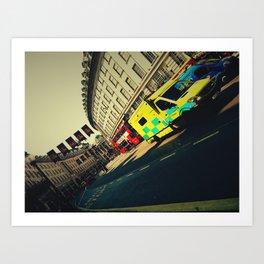 London Call Ambulance Art Print