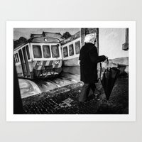 train Art Prints featuring train by Joao Bizarro