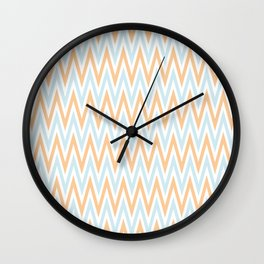 ZigZag pattern - blue and orange Wall Clock