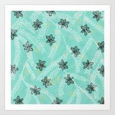 Fluttering Florals Art Print