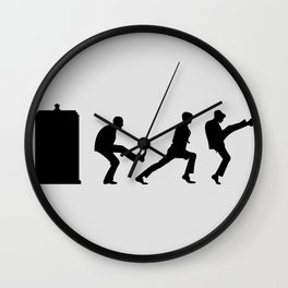 The Tardis of Silly Walks Wall Clock