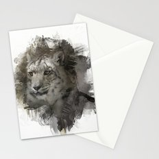 Expressions Snow Leopard 2 Stationery Cards