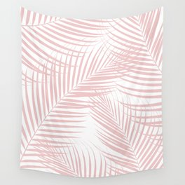 Blush Pink Palm Leaves Dream - Cali Summer Vibes #2 #tropical #decor #art #society6 Wall Tapestry