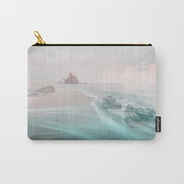 Dreamy Beach In Pink And Turquoise Carry-All Pouch