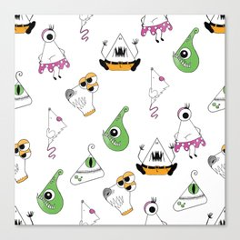 Happy Monsters Canvas Print