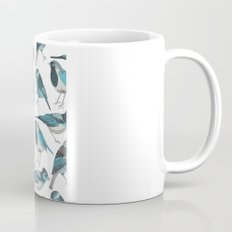 pale green birds Mug