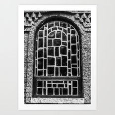B&w Window Art Print