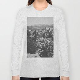 Chollo Cactus Garden (Black + White) Long Sleeve T-shirt
