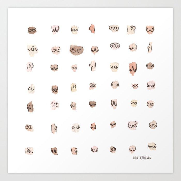 Boobs Art Print By Juliaheffernan  Society6-8685