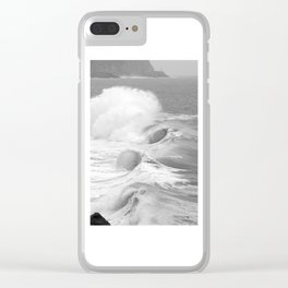 "Ocean Waves ""Tres Tubos"" Clear iPhone Case"