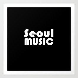 Seoul Music Art Print