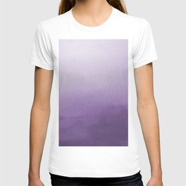 Inspired by Pantone Chive Blossom Purple 18-3634 Watercolor Abstract Art T-shirt