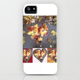 Autumn Heart Leaf Group 1 iPhone Case