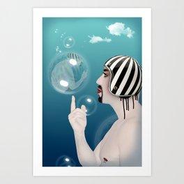 bubble guy  Art Print